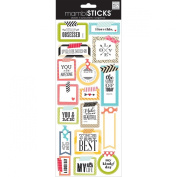 Me and My Big Ideas STP-175 Mambi Sticks Stickers, Washi Tape Shapes