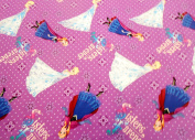 """Frozen by Disney """"Sisters Forever"""" Fabric by the yard"""