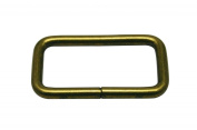 Generic Metal Bronze Rectangle Buckle 3.8cm X 1.9cm Inside Dimensions Loop Ring Belt and Strap Keeper for Backpack Bag Accessories Pack of 10