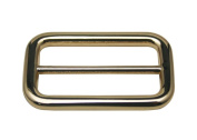 Generic Metal Golden Rectangle Buckle with Fixed Bar 4.1cm X 2cm Inside Dimensions Belt Shoes Strap Keeper Or Backpack Bag Accessories Pack of 4