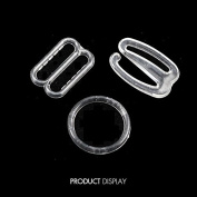 20set Plastic Clear Lingerie Hardware Sewing Clips Clasp Hooks for Bra Strap 14mm Sewing Intimate Accessories WB85
