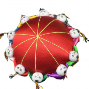 Rimobul Oriental Needle Pin Cushion with 10 Kids - Red