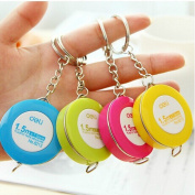 12 Pieces (4 Colour)Mini Plastic Tape Measure Sewing Tailor Dieting Tapeline Ruler Keyring style,Portable Retractable Ruler Tape Measure 150cm Sewing Cloth Dieting Tailor 1.5M