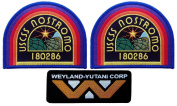 ALIEN Movie Weyland Nostromo USCM Crew Costume [3 patch set]