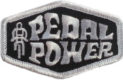 Pedal Power Embroidered Patch 7CM x 4.4CM