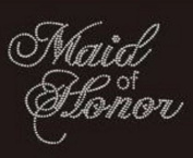 Maid of Honour Rhinestone Iron on Transfer