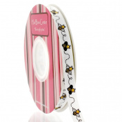 1cm Bumblebee Grosgrain Ribbon 25 Yard