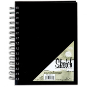 Pro-Art 14cm by 20cm Spiral Bound Sketch Book, 80 Sheets