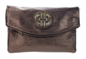 Canal Collection Multi Purpose Soft Foldable PVC Cross Body Clutch with Emblem
