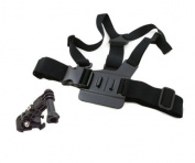 A Model Elastic Chest Body Strap Mount Belt For GoPro Hero 3/2/1 With 3-way Adjustment Base