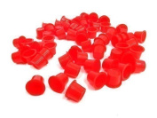 DCTattoo 1000 X Bulk Buy Pack Red Tattoo Ink Cups Caps Pots -