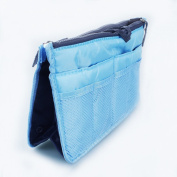 Domire Blue Handbag Pouch Bag in Bag Organiser Insert Organiser Tidy Travel Cosmetic Pocket Makeup Bag