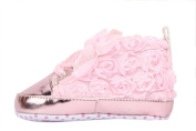 EOZY Soft Non-Slip Baby Toddler Infant Girl Chic Lace Rose Shoes Walking Sneaker Prewalker Gift Outsole length 13cm Pink