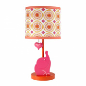 Happy Chic Baby Jonathan Adler Party Elephant Lamp and Shade, Pink/Orange/White