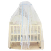 DDLBiz Baby Infant Bed Mosquito Mesh Dome Curtain Net for Toddler Crib Cot Canopy
