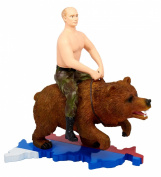 Putin Riding on a Bear Action Figure