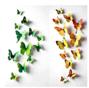 Amaonm® 60 Pcs 5 Packages Beautiful 3d Butterfly Wall Decals Removable Diy Home Decorations Art Decor Wall Stickers & Murals for Babys Bedroom Tv Background Living Room