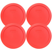 Pyrex 7201-PC Round Red 17cm 4 Cup Lid for Glass Bowl 4 Pack