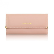 Zehui Women's Zip Around Rose Pattern Patent Leather Long Wallet Purse Coin Purse