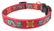 Green Dragon Dog Collar | Yellow Dog Design