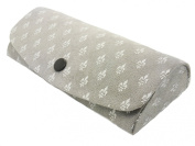 Fleur De Lis Hard Metal Glasses Case With Presentation Box