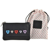 Ladies LEATHER Coin PURSE WALLET by MALA Lucy Collection Handy Heart