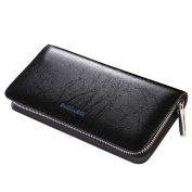 Teemzone Men's Genuine Leather Business Clutch Bags With Card Case and Cash Holder Pocket Purse
