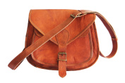 Vintage Crafts 28cm A Beautifully Handcrafted Cross-Body Leather Bag One Size Brown