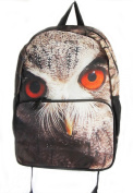 OWL's face print Rucksack/ Backpack School Bag Short Trip