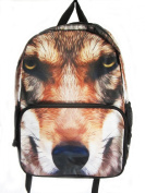 DOG's FACE print Rucksack/ Backpack School Bag Short Trip
