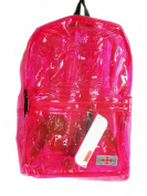 Transparent PINK Rucksack/ Backpack School Bag Short Trip