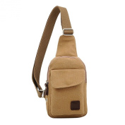 TOOGOO(R) Men's Casual Small Canvas Vintage Shoulder Hiking Crossbody Bicycle Bag Messager bags-khaki