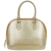 Equilibrium Jelly Glittered Tapered Gold Handbag JD 9923