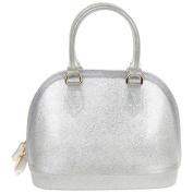 Equilibrium Jelly Glitter Tapered Silver Handbag JD 9922