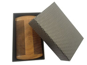EQLEF® Great men's gift Beard Comb Wooden Comb Green Sandalwood Pocket Comb Small Hair Comb Hair Brush with box