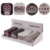 Lauren Billingham Day of the Dead Skull Compact Mirror