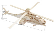 JINPIN Kids Puzzle Toys Early Education Toys 3D Wooden Puzzle Simulation Model - Apache Aircraft