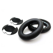 Top Elecs new replacement Earpads Ear Pads Cushions for Bose QuietComfort QC2 QC15 AE2 AE2i Headphone, elastic sponge and PU leather Black