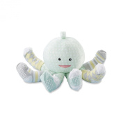 Baby Aspen Sock T. Pus Octopus Plush Plus Four Pairs of Socks for Baby, Mint, 0-6 Months