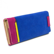 Mad Style Colour Block Suede Wallet
