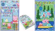 Peppa Pig Play Pack, Peppa Pig Carry Along Colouring Set & Peppa Pig Sticker Pad - SET OF 3 ITEMS