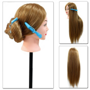 Neverland Professional 70cm Super Long 70% Real Human Hair Hairdressing Equipment Mannequin Training Head For College and Professional Use
