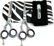 Left Handed Hairdressing Scissors 14cm , Thinning Scissors 14cm , Zebra Pattern