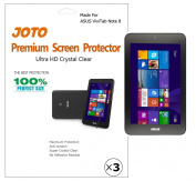 JOTO - ASUS VivoTab Note 8 Tablet (Windows 8.1) Screen Protector Film Ultra Crystal Clear (Invisible) with Lifetime Replacement Warranty (M80TA)