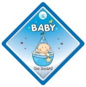 Baby On Board Sign, Baby on Board Car Sign, Car Sign, Blue Basket, Baby on Board, Baby Car Sign, Decal , Bumper Sticker, Baby Boy On Board