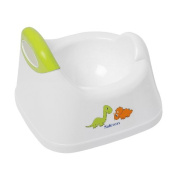 Safetots Dinosaur Toilet Training Potty White with Lime Trim