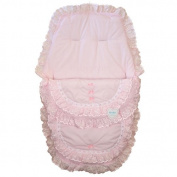 Kinder Collection 3 in 1 Cosytoes / Footmuff with Pink frills