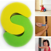 2 Pcs Foam Child Safety Door Stopper Pad Baby Finger Protection Door Jam Guard