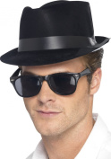 Black Flock Blues Brothers Style Hat - Pack of 2
