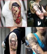 Dalin 4 Sheets Temporary Tattoo, Sexy Lady, Elephant